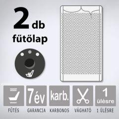KIYO karbonszálas ülésfűtés  3 fokozatú nyomógombbal, 1 ülésre