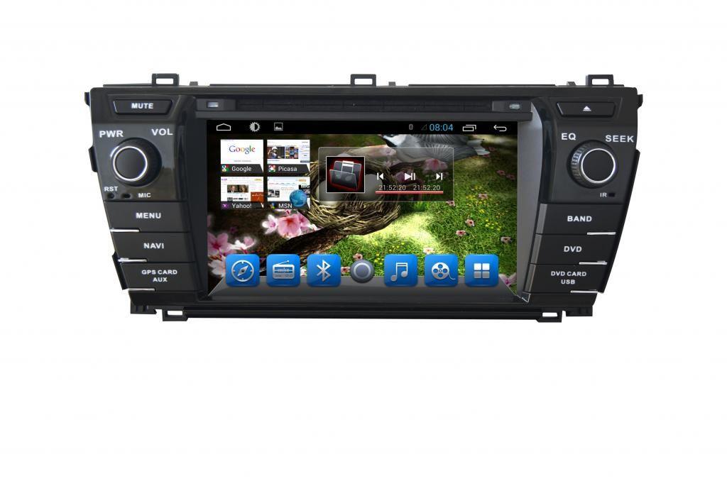 Toyota Corolla 2013-2014 Navigációs android autó multimédia
